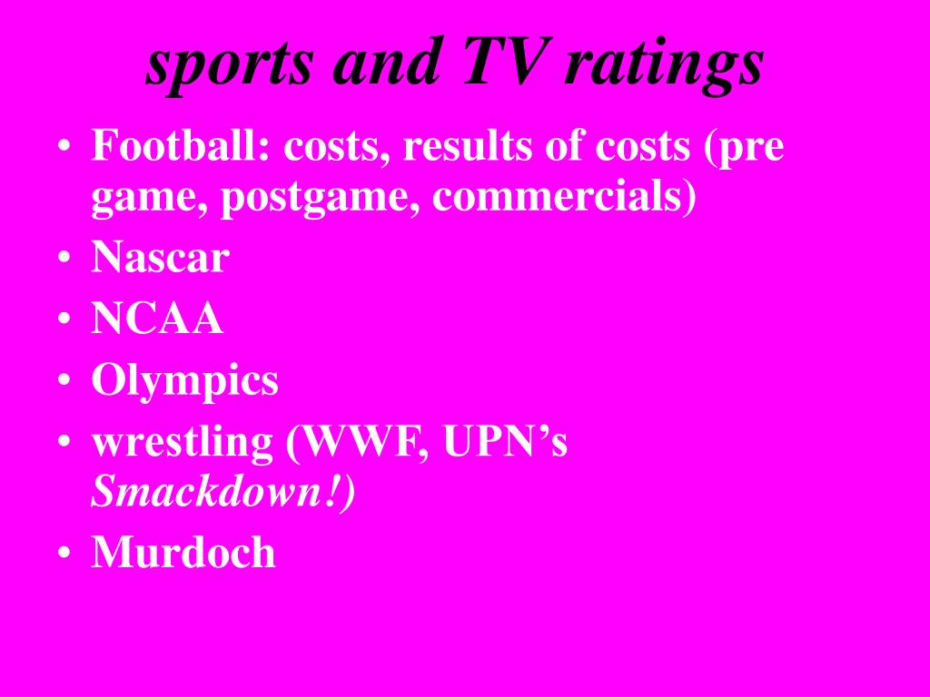 sports and TV ratings