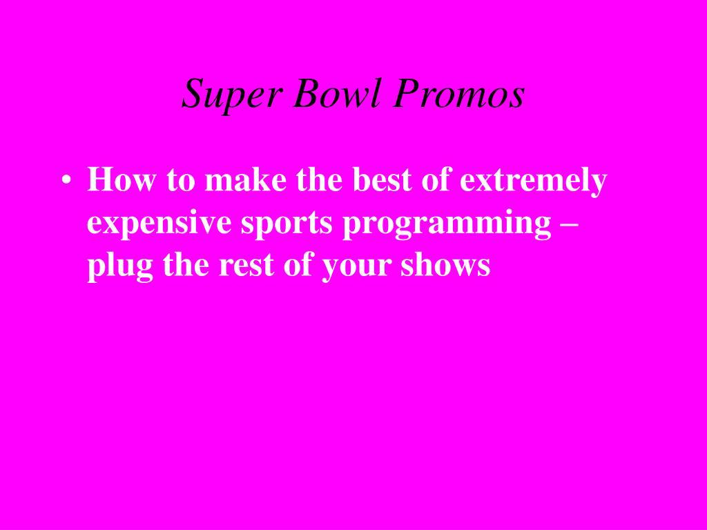 Super Bowl Promos