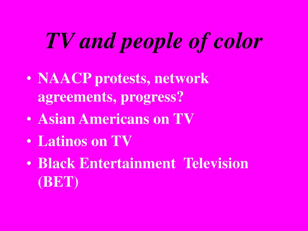 TV and people of color