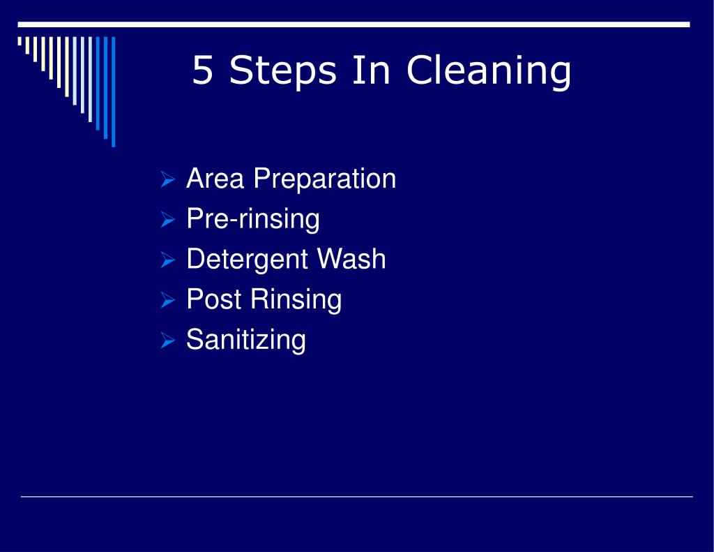 5 Steps In Cleaning