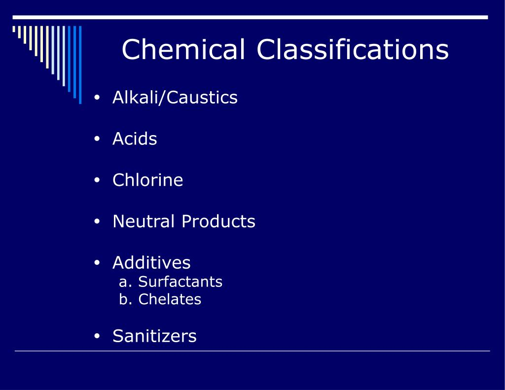 Chemical Classifications