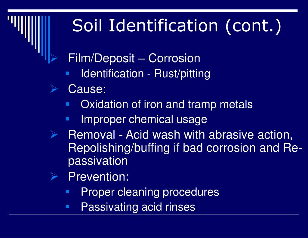 Soil Identification (cont.)