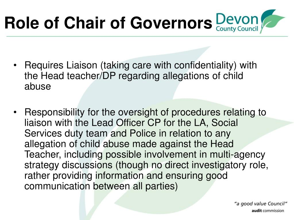 Role of Chair of Governors