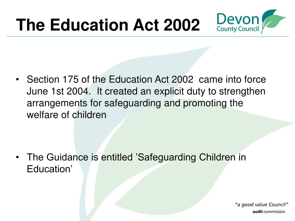 The Education Act 2002