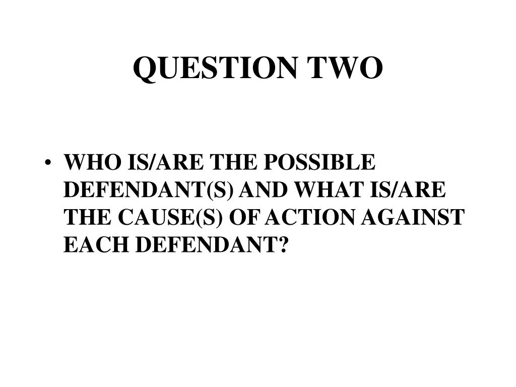 QUESTION TWO