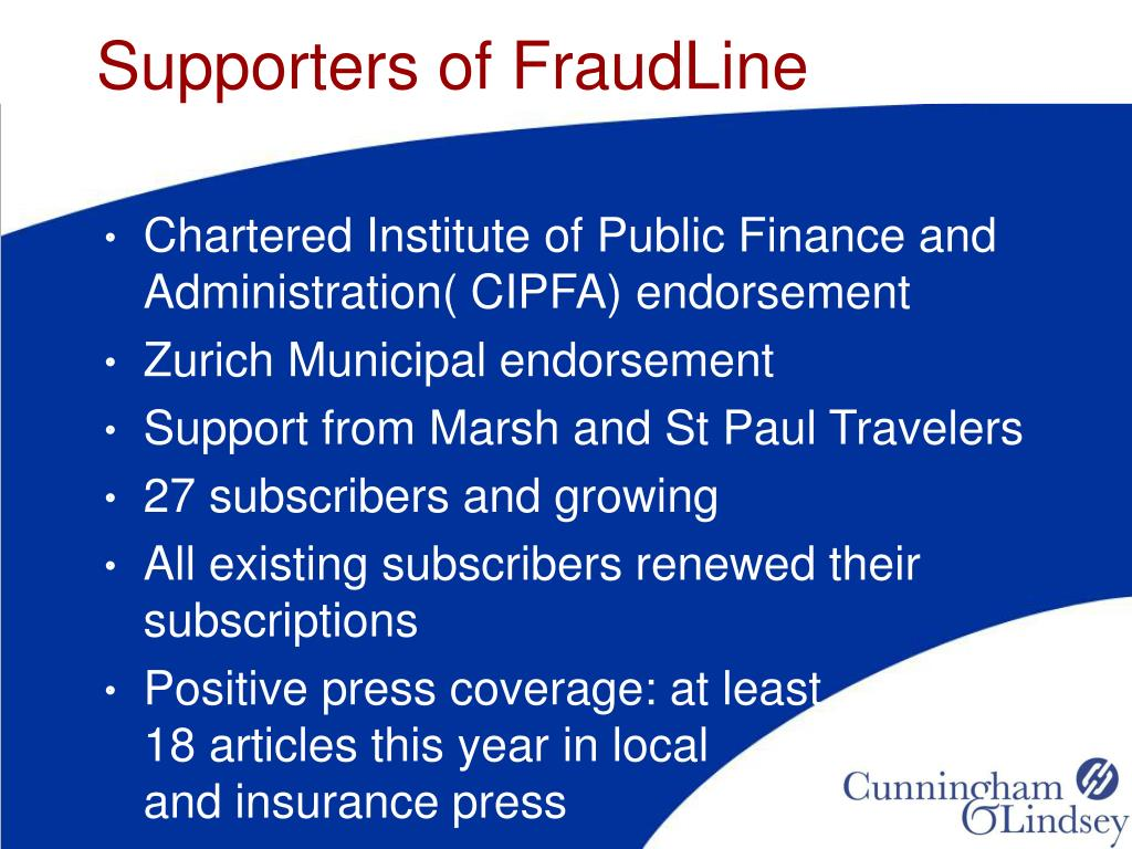 Supporters of FraudLine