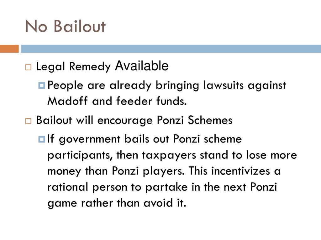 No Bailout
