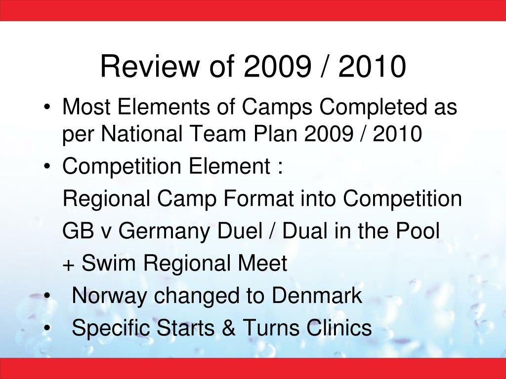 Review of 2009 / 2010