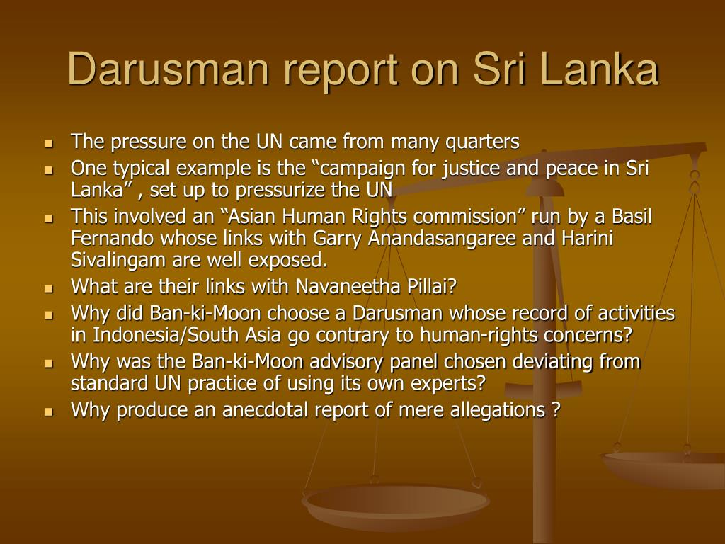 Darusman report on Sri Lanka