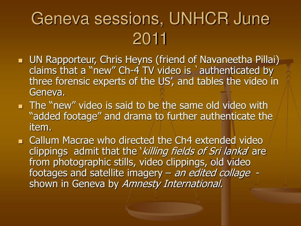 Geneva sessions, UNHCR June  2011