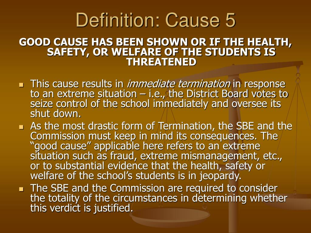 Definition: Cause 5