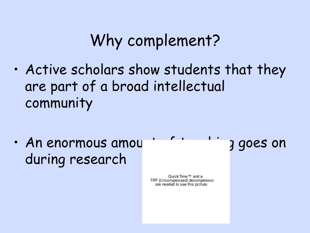 Why complement?