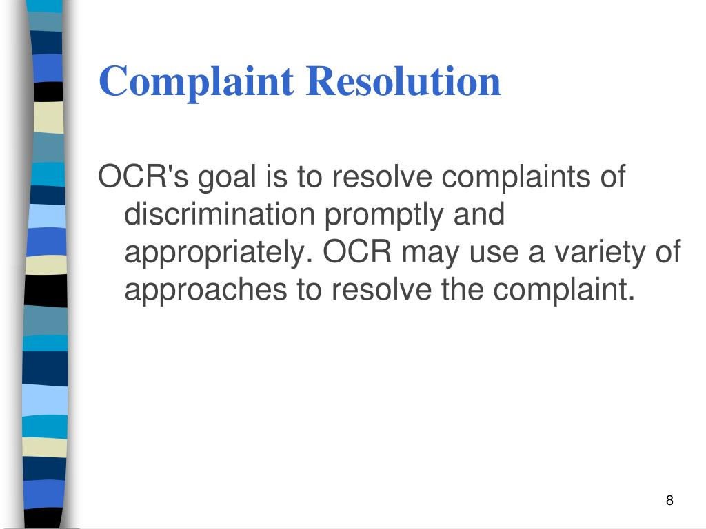 Complaint Resolution