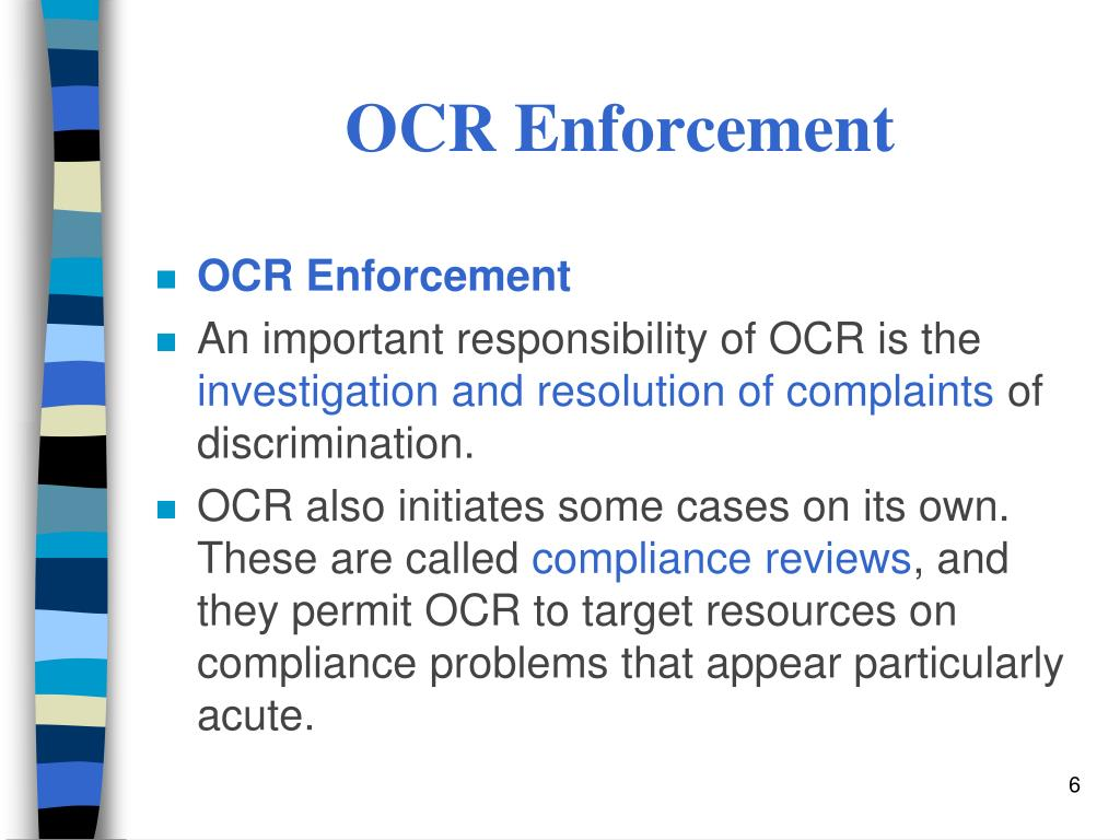 OCR Enforcement