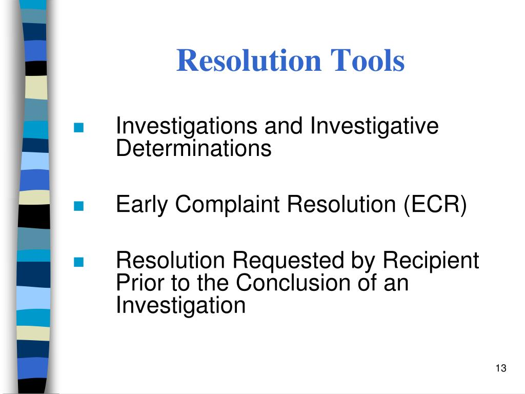 Resolution Tools