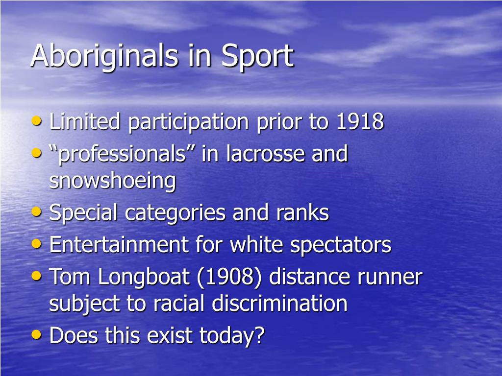 Aboriginals in Sport