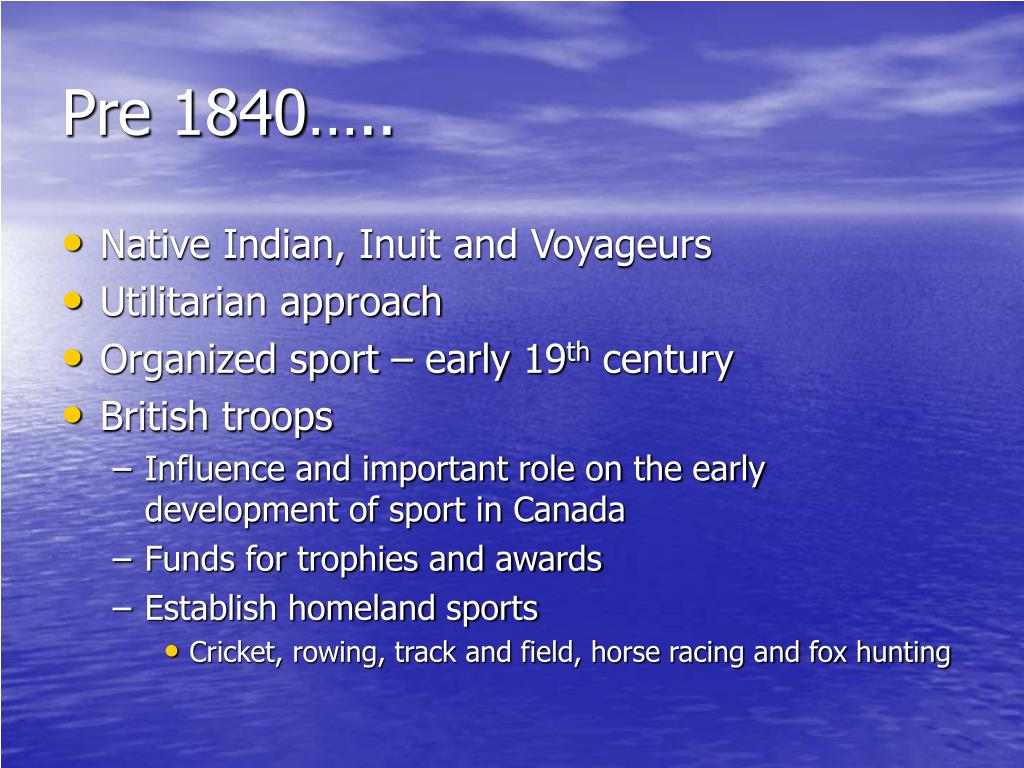 Pre 1840…..