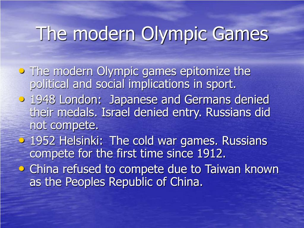 The modern Olympic Games