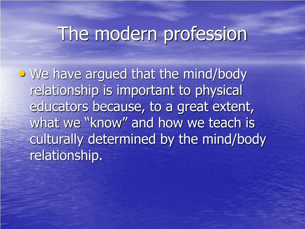 The modern profession