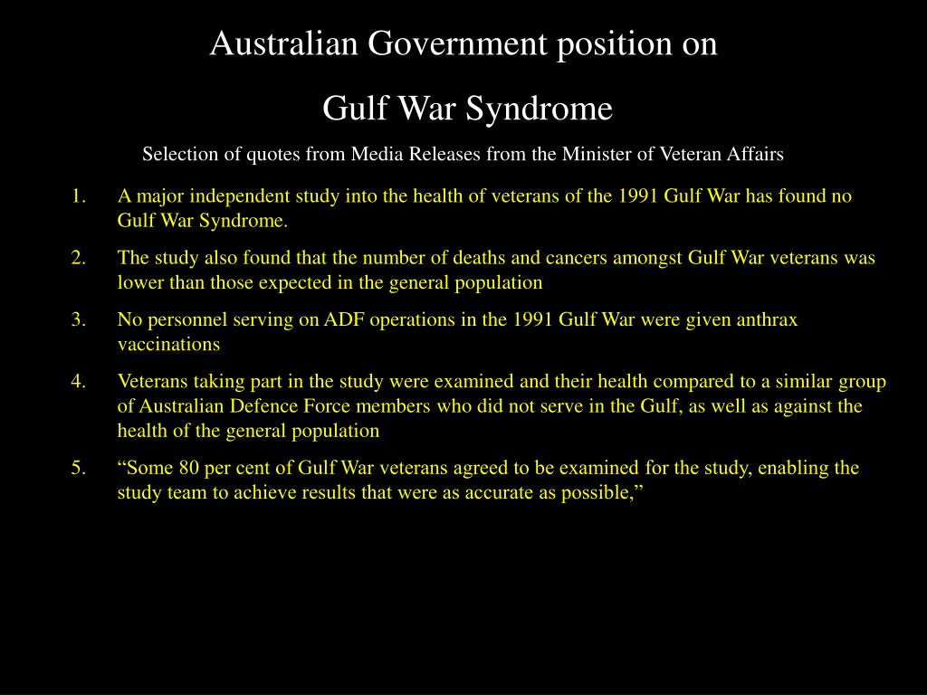 Australian Government position