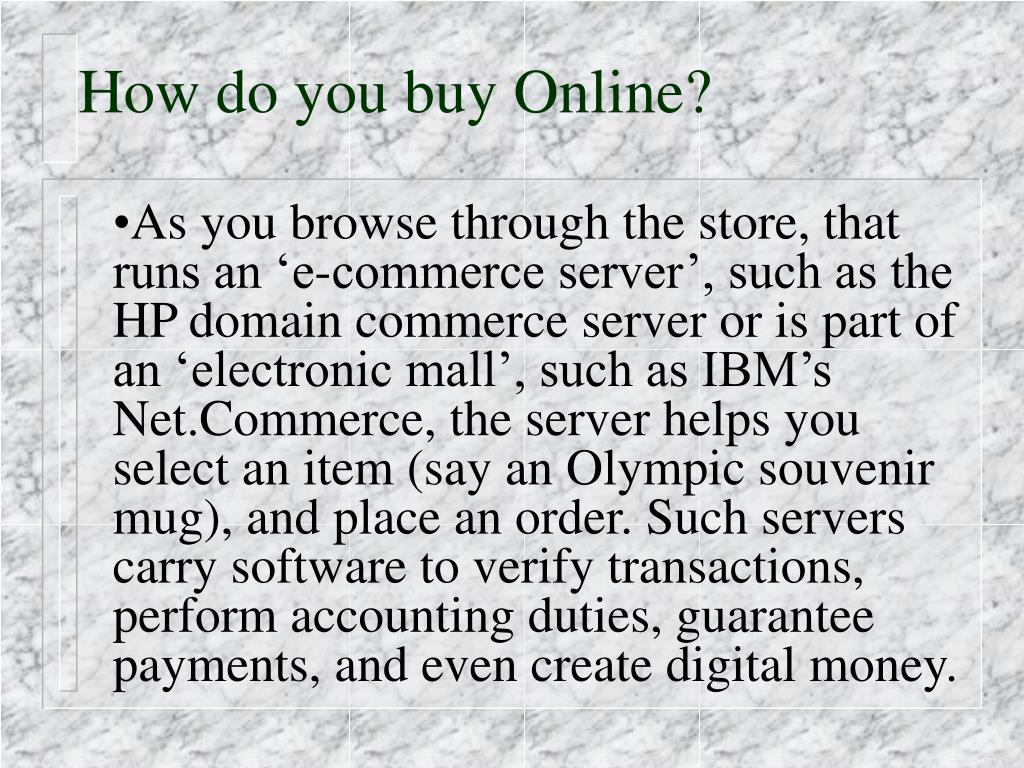 How do you buy Online?