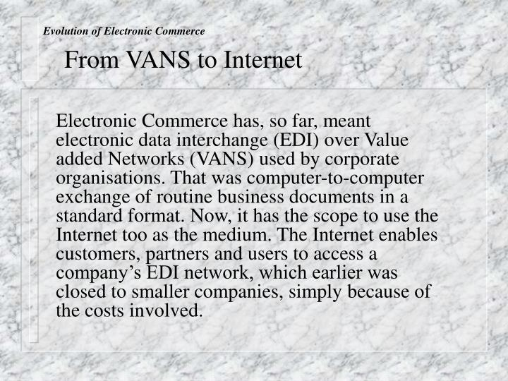 Evolution of Electronic Commerce