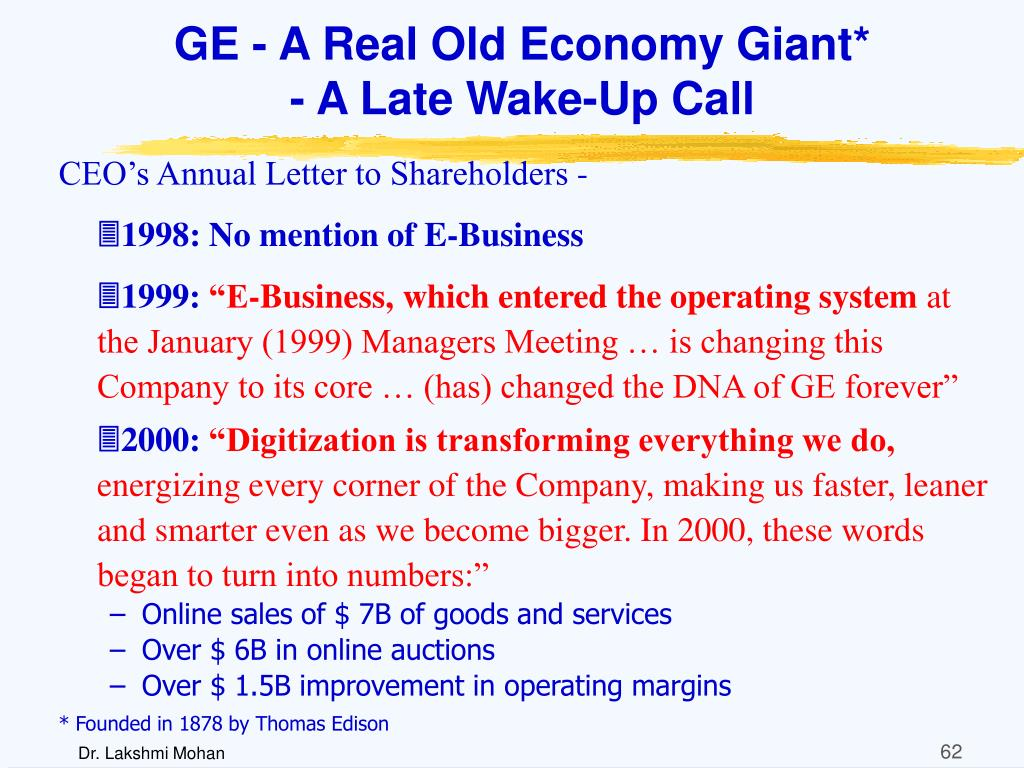 GE - A Real Old Economy Giant*