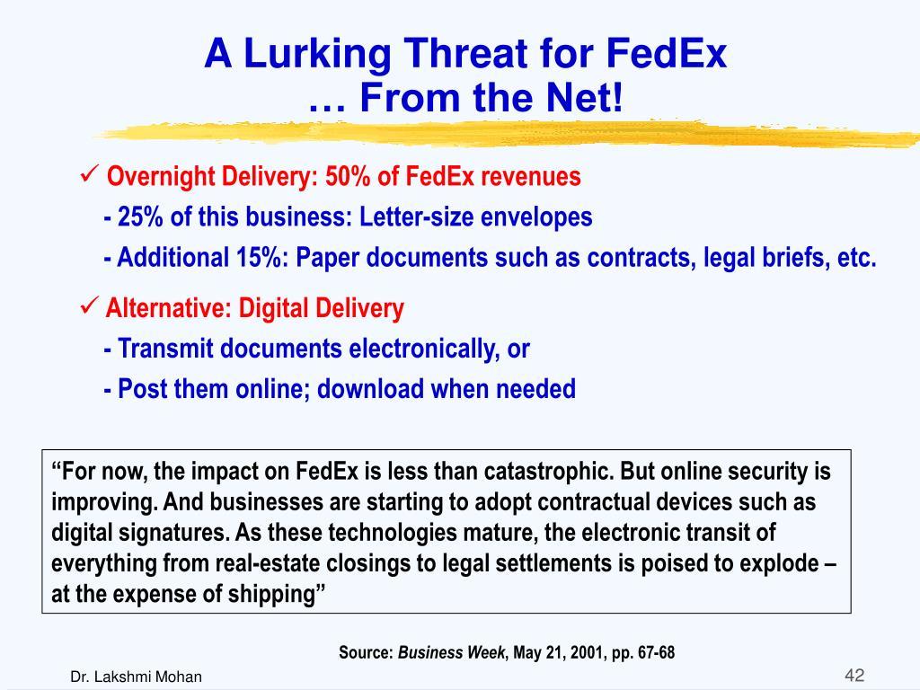 A Lurking Threat for FedEx