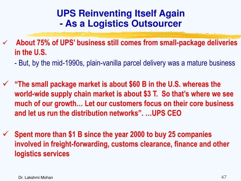 UPS Reinventing Itself Again