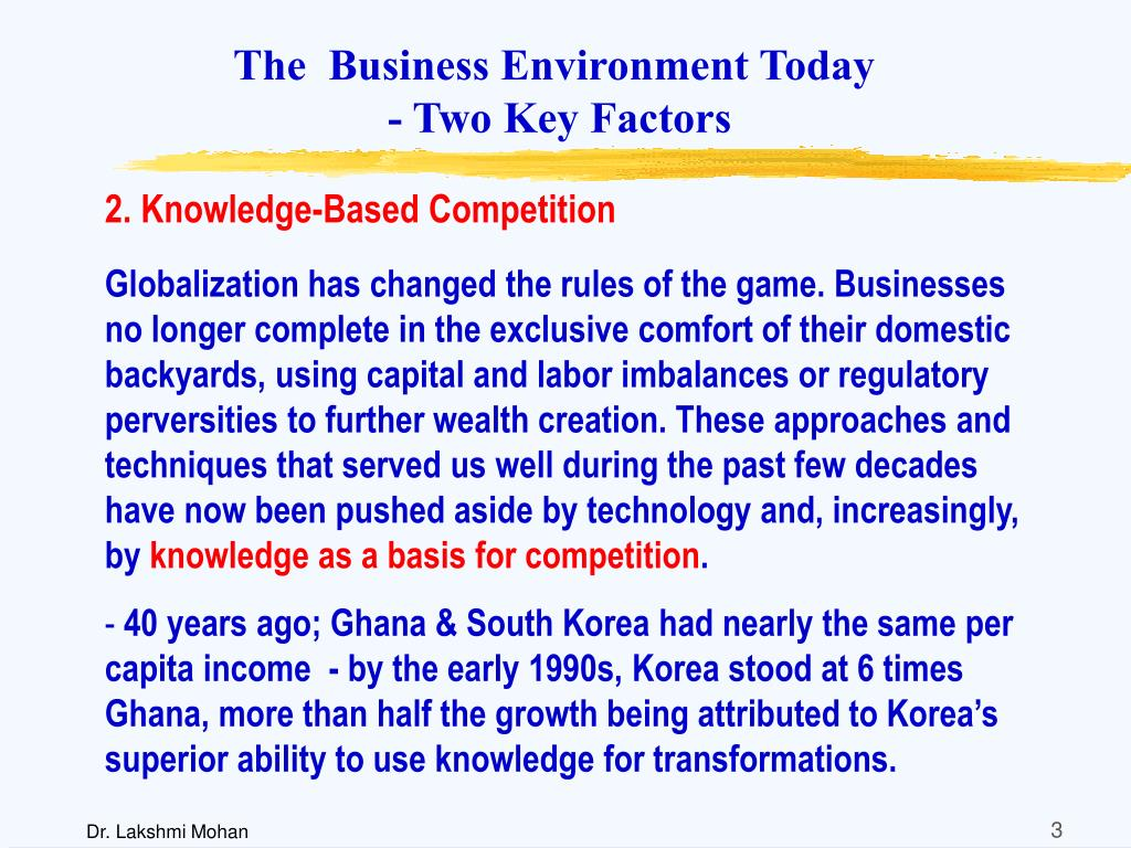 The  Business Environment Today