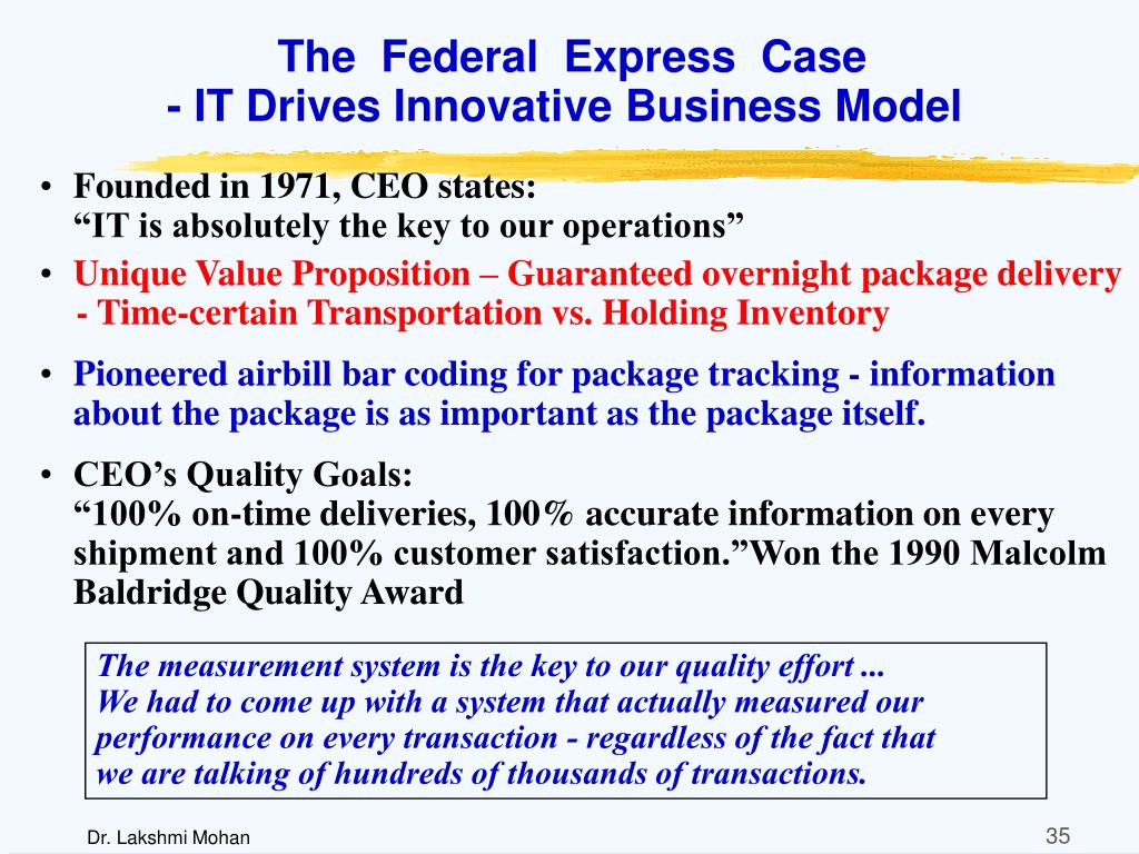 The  Federal  Express  Case