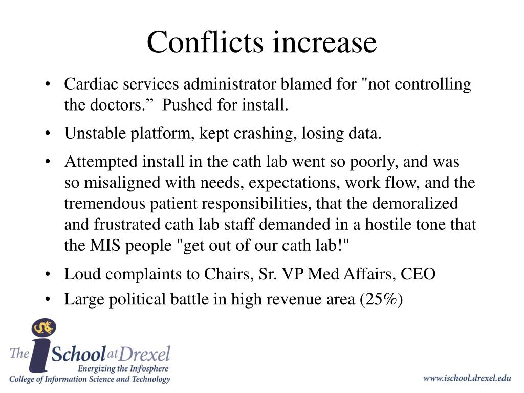Conflicts increase