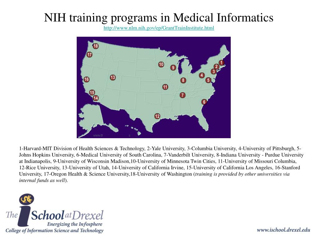 NIH training programs in Medical Informatics