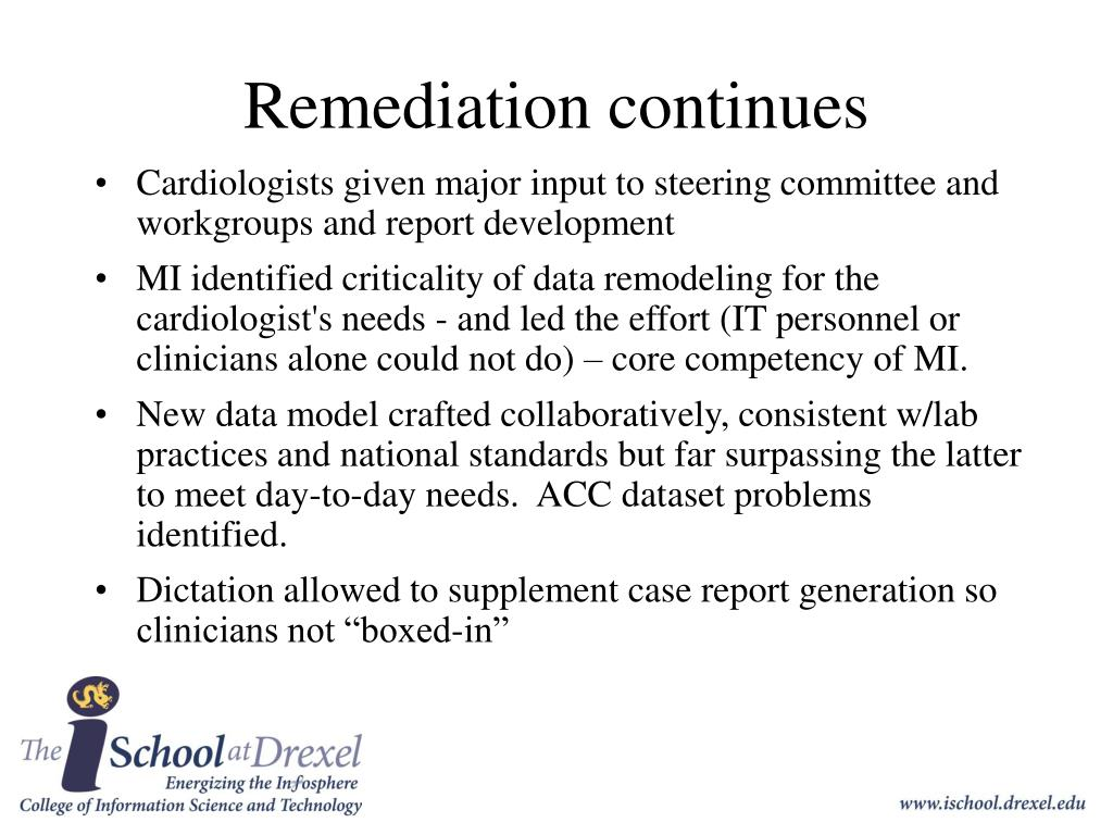 Remediation continues