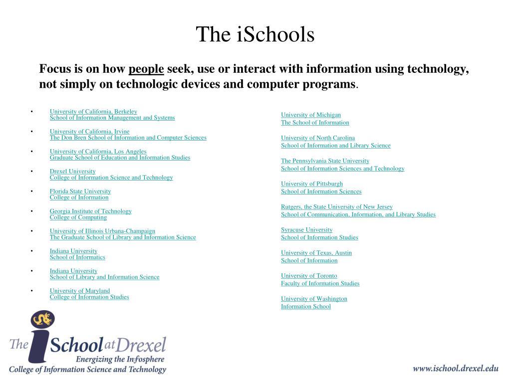 The iSchools