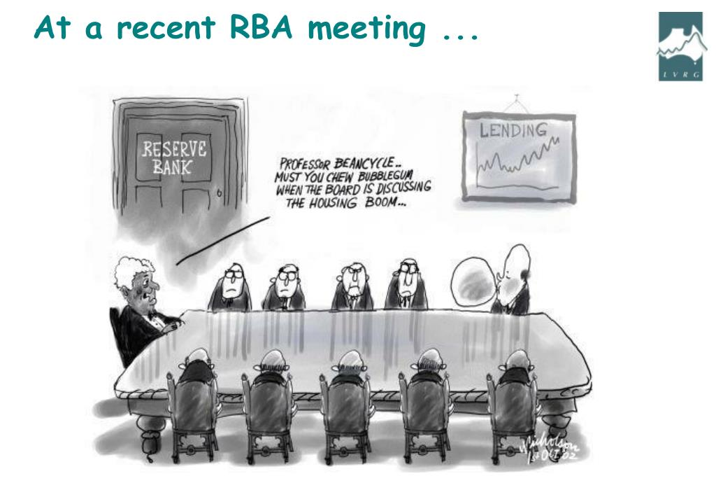 At a recent RBA meeting ...