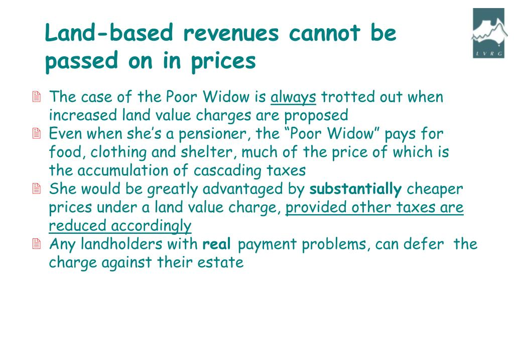 Land-based revenues cannot be