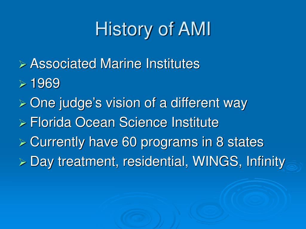 History of AMI