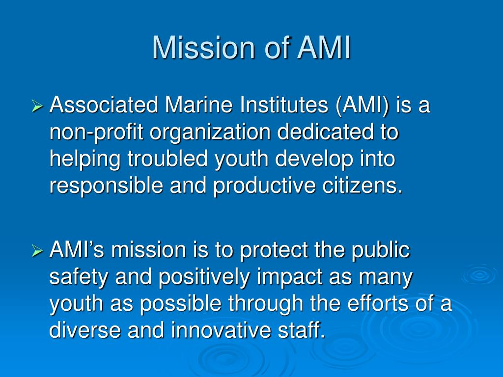 Mission of AMI