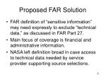 proposed far solution31