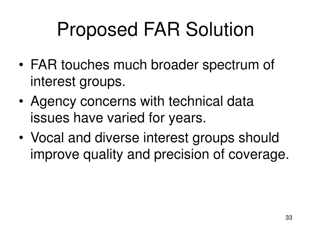 Proposed FAR Solution