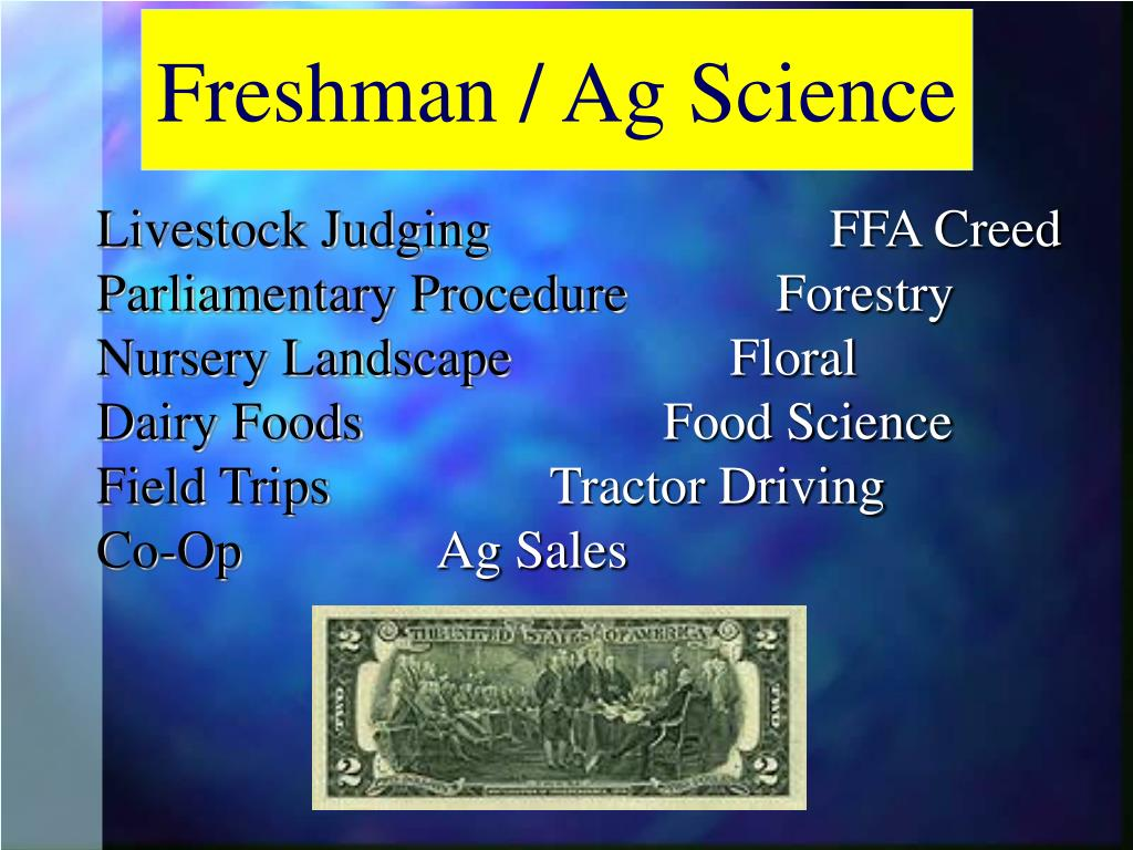 Freshman / Ag Science