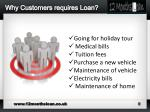 why customers requires loan