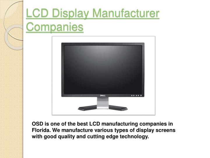 Lcd display manufacturer companies