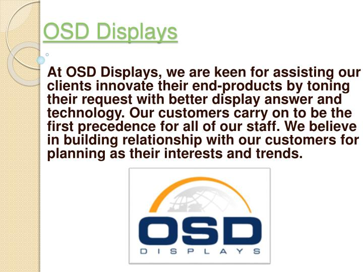Osd displays