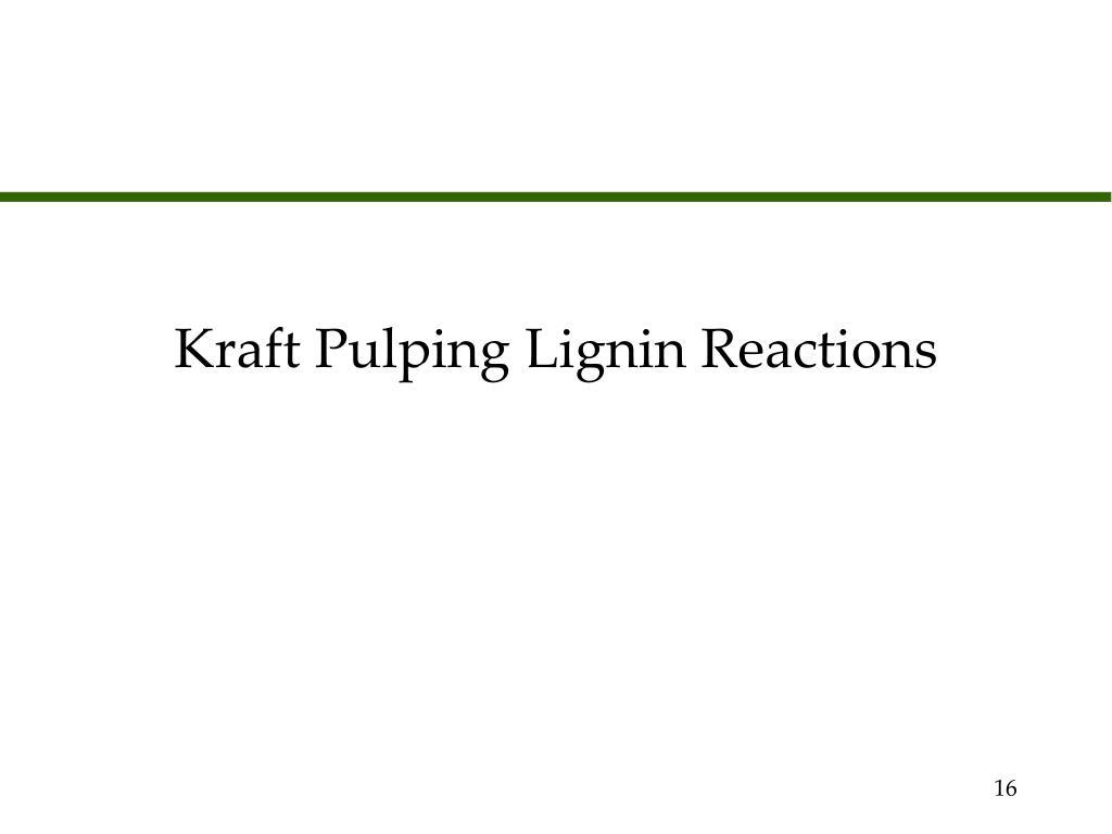 Kraft Pulping Lignin Reactions