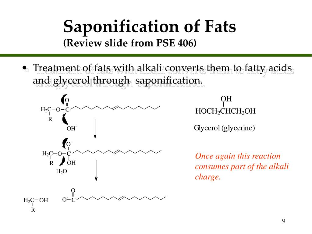 Saponification of Fats