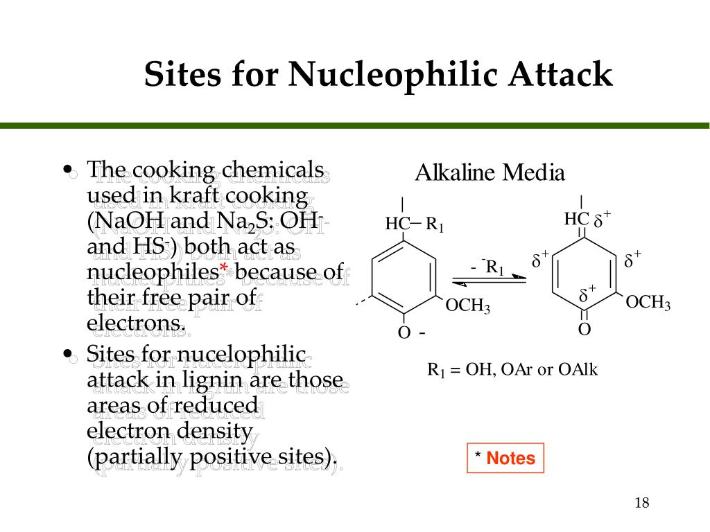 Sites for Nucleophilic Attack