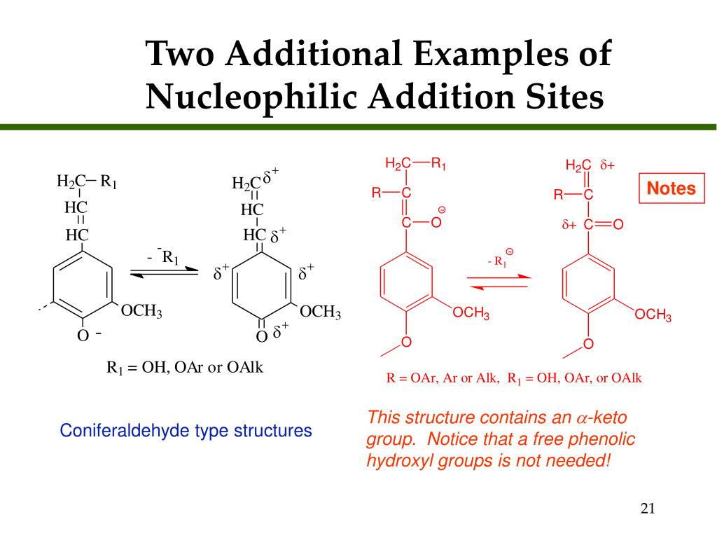 Two Additional Examples of Nucleophilic Addition Sites