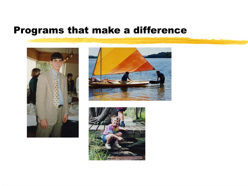 Programs that make a difference